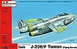 AZ model 1/48 スウェーデン空軍 J-29E/F トゥナン プラモデル AZM4856A