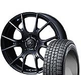 [195/50R16] DUNLOP / WINTER MAXX 01 スタッドレス [2/-] [Weds / LEONIS NAVIA 02 (MBK) 16インチ] スタッドレス&ホイール4本セット ヴィッツ(130/90系 16インチ車)、ロードスター(ND系)