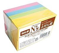 アックス N's 付箋 強粘着 75×25mm ビビットカラー KNSF-18 100枚×10冊