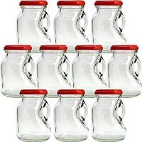 ジャム瓶 T53ミニストック200 200ml -10本セット- ((ふた)赤53RTS-D)