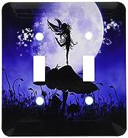 3drose LSP _ 201070_ 2A Fairy Dancing on a MushroomパープルブラックFairyシルエットダブル切り替えスイッチ