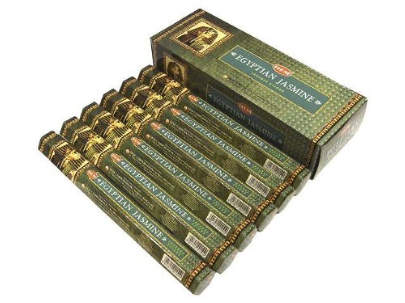 病気だと思う上昇脆いHEM(ヘム)社 エジプシャン ジャスミン香 スティック EGYPTIAN JASMINE 6箱セット