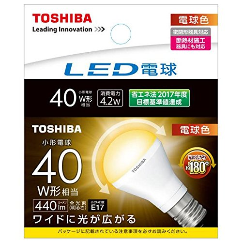 東芝 LED電球 ミニクリプトン形 440lm (電球色相当...