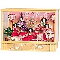 雛人形 コンパクト 平安豊久 ひな人形 ケース飾り 五人飾り 望結 小三五五人 オルゴール付 h303-mo-333426 HC-161