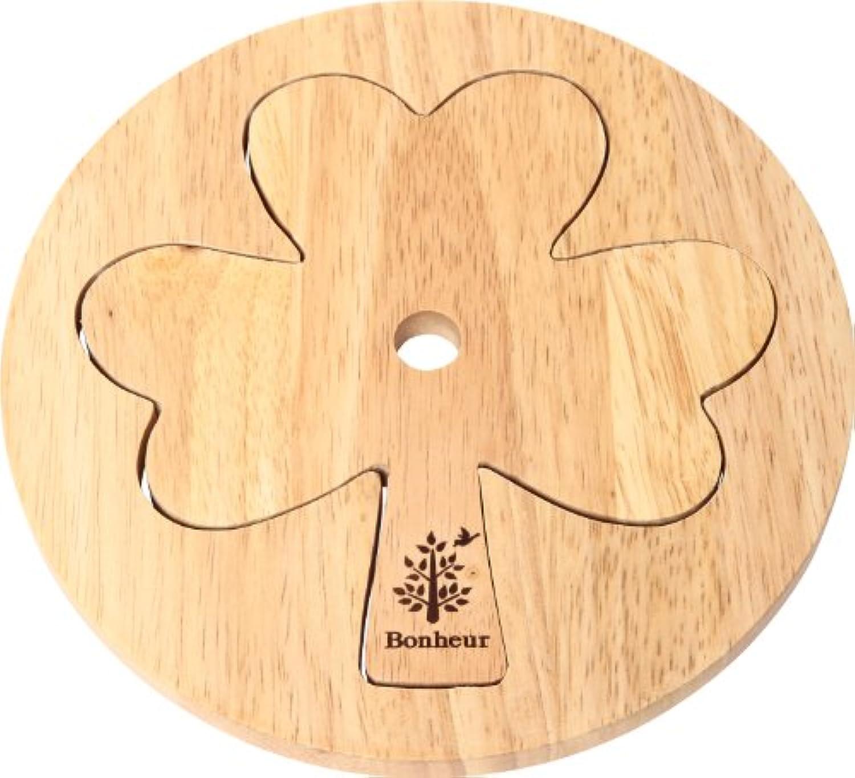 不二貿易 木製 カップルトリベット クローバー ボヌール キッチン雑貨シリーズ ナチュラル 94384