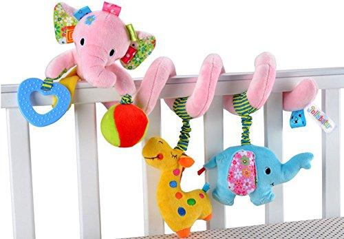 Cute Baby ベビー ベッド メリー 赤ちゃん ジム かわいい おもちゃ (ぞう(ピンク))
