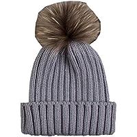 (ビグッド)Bigood シンプル ニットキャップ レディース メンズ ビーニー 帽子 ボンボン付き ニット帽 カジュアル アウトドア 通学 通勤