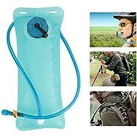 ハイドレーション バッグ 水パック 給水袋 2L 耐摩耗 耐圧縮 耐高温 使用便利 水分補給 折り畳む可 キャンプ ハイキング用  ウォーター ブラッダーバッグ ブルー