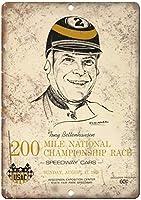 200マイルナショナルチャンピオンシップレース 金属板ブリキ看板注意サイン情報サイン金属安全サイン警告サイン表示パネル