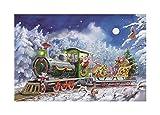 """Alexander Taron Korsch Advent Santa in Train???8.25?"""" H x 11.75?"""" W x 1?"""" D"""