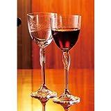 GLASS WORKS NARUMI ボヘミアワイングラスペア FL-200