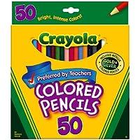 Crayola 50 ct Long Colored Pencils (68 – 4050 ) 12-Sets