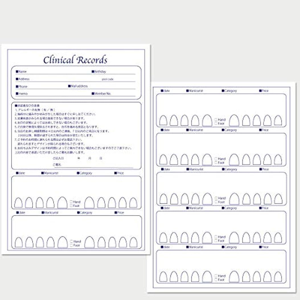 ベスビオ山革新できないサロン名が指定可能なオリジナルネイルサロンカルテ/PDFファイルをDVDにて納品 (ブルー)