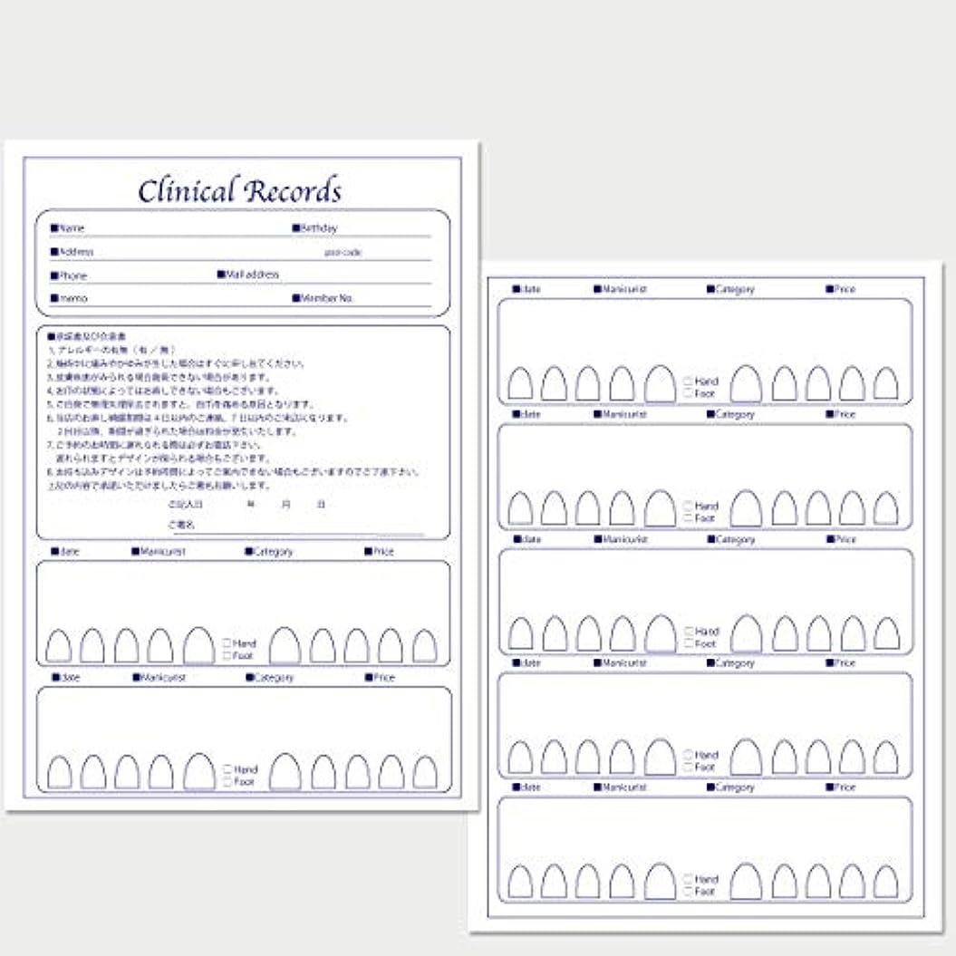 方法論上陸天使サロン名が指定可能なオリジナルネイルサロンカルテ/PDFファイルをDVDにて納品 (ブルー)