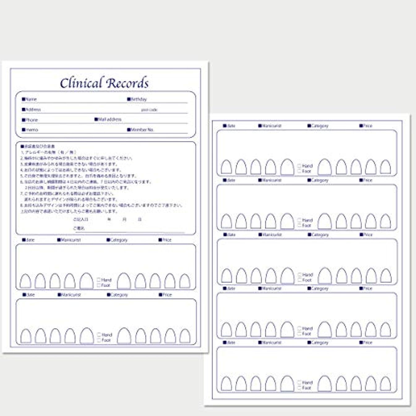 目的ふける抵当サロン名が指定可能なオリジナルネイルサロンカルテ/PDFファイルをDVDにて納品 (ブルー)