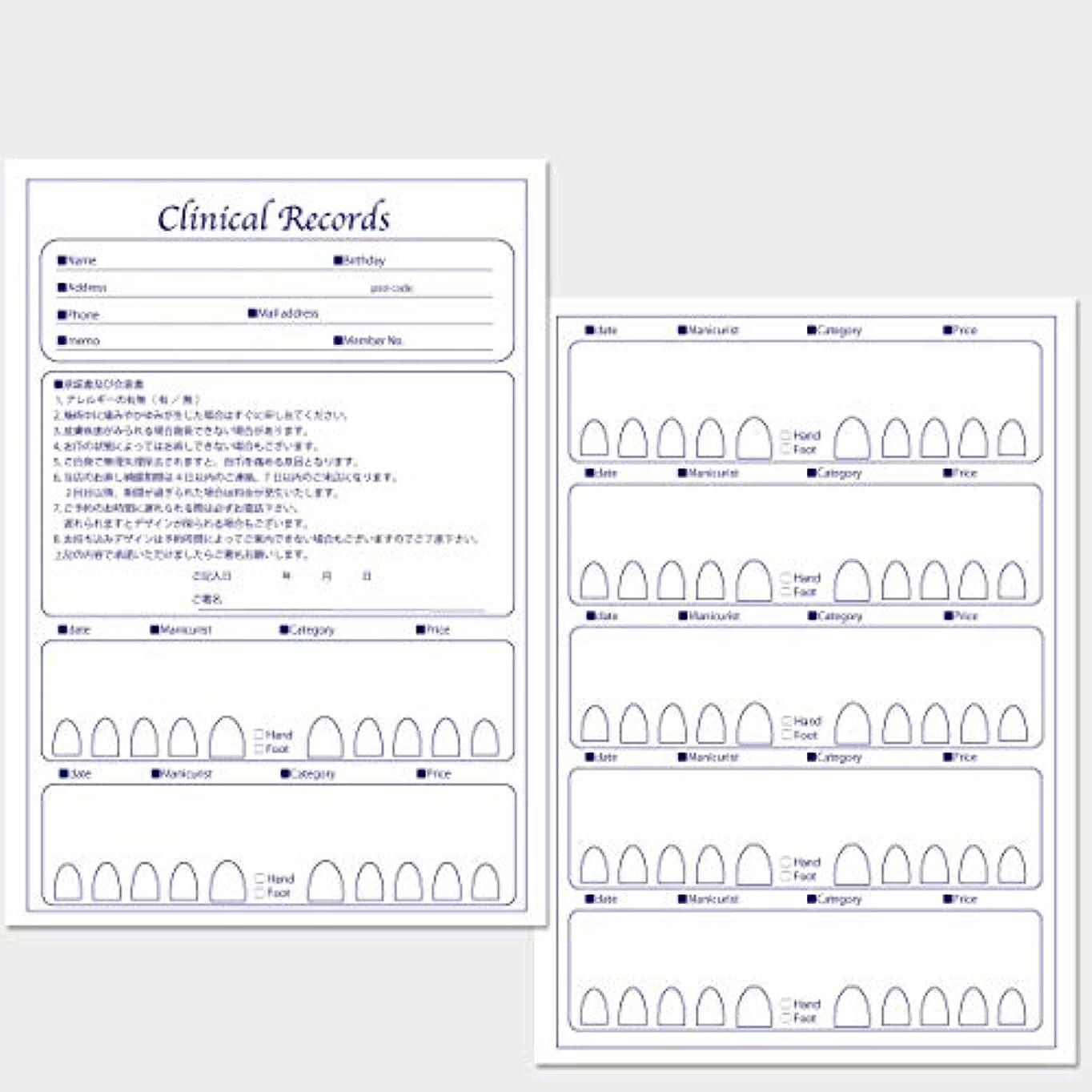 露出度の高い韓国語保護サロン名が指定可能なオリジナルネイルサロンカルテ/PDFファイルをDVDにて納品 (ブルー)