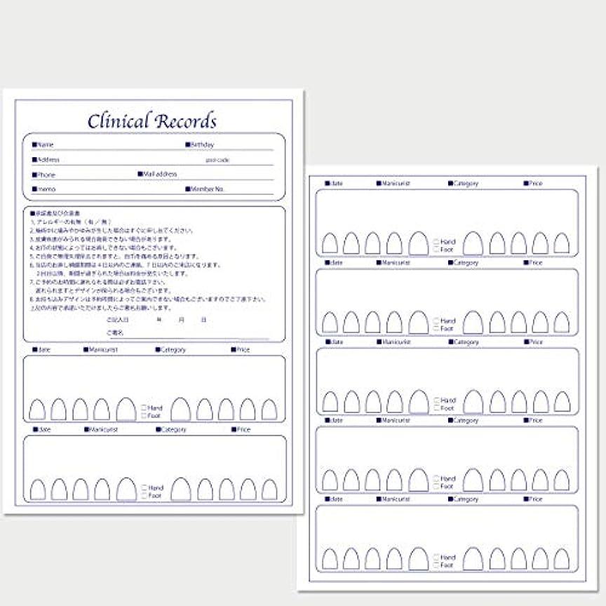 コイン同盟コジオスコサロン名が指定可能なオリジナルネイルサロンカルテ/PDFファイルをDVDにて納品 (ブルー)