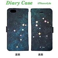 d6ec805d07 iPhone6 iPhone6s アイフォン6 アイフォン6s スマホケース 手帳型 カード収納 ストラップホルダー 星座 しし