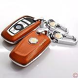 本革レザースマートキーケースカバー適合 BMW F10 F20 F30 F13 F01 F25 3 or 4 buttons 1 3 5 7 series車用
