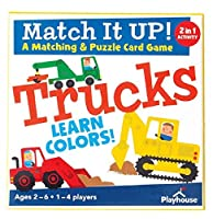 Playhouse Match it UP! Trucks Color Matching and Puzzle Card Game for Kids [並行輸入品]