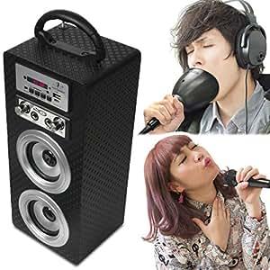 ウタオー スピーカー カラオケ スマホ Bluetooth スマホと簡単接続 音漏れ減少 自宅で熱唱 マイク1本 ミュート(防音)カップ リモコン付