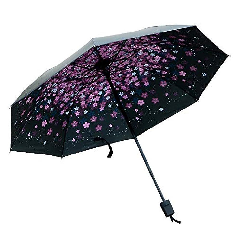 設計図読者忍耐女性の日雨の傘のデザインのファッション防風自動折りたたみ式日雨アンチUV傘のための旅行傘 ポータブル防風強化日焼け止め傘 (Color : ピンク, Size : One Size)