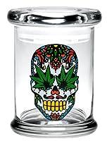 シュガースカルW / Hemp Leaf Pop Top Jar by 420Science–各種サイズ M JR617MD