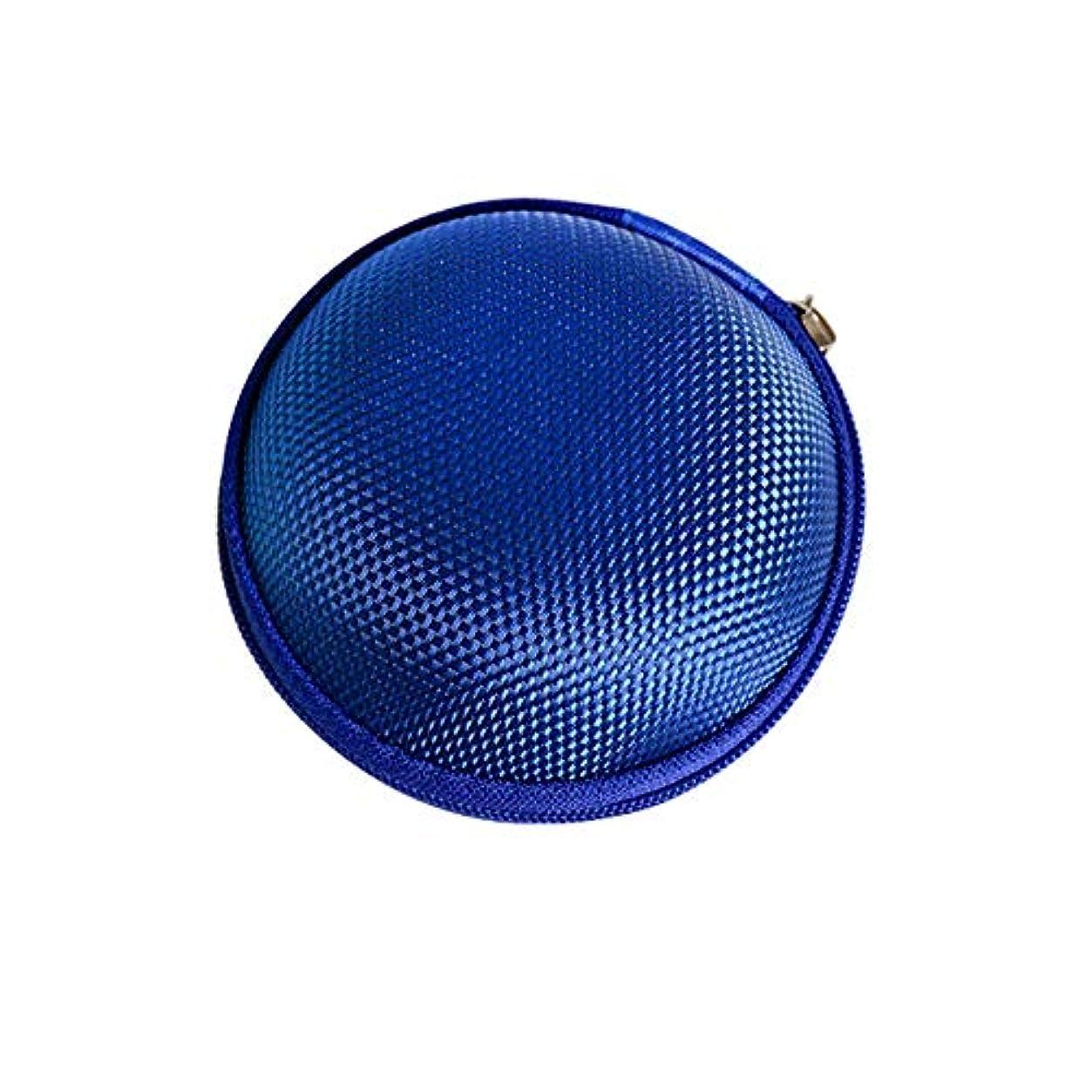 吸う口径視力Chinashow エッセンシャル オイル キャリング ケース - エッセンシャル オイル スモール ストレージ オーガナイザー フォーム インサート と 7本 ボトル付き(2ml) ブルー