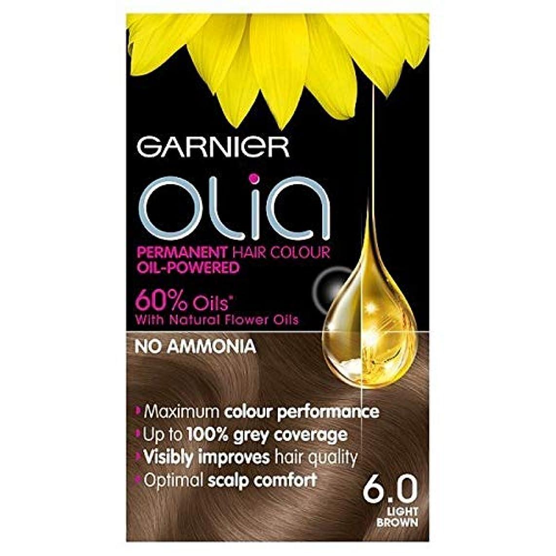 うなり声修理工コメント[Garnier ] 6.0ライトブラウンガルニエOliaパーマネントヘアダイ - Garnier Olia Permanent Hair Dye Light Brown 6.0 [並行輸入品]