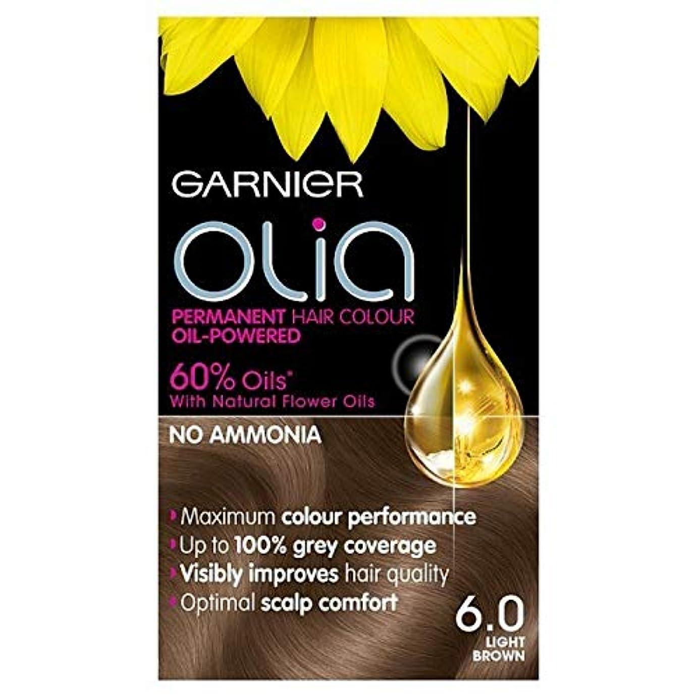 卒業記念アルバム前提条件持つ[Garnier ] 6.0ライトブラウンガルニエOliaパーマネントヘアダイ - Garnier Olia Permanent Hair Dye Light Brown 6.0 [並行輸入品]