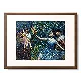 エドガー・ドガ Edgar Degas 「Dancer with a Tambourine. Circa 1897」 額装アート作品