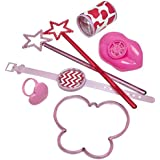Girls Birthday Party Celebration Princess Party Loot Bag Fillers Favours Toys Pack of 24 Whistles Wands Rings Puzzle Watches Butterfly Bracelets Prism Viewers