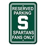 NCAA Michigan State Spartans 12-by-18インチプラスチック駐車場サイン