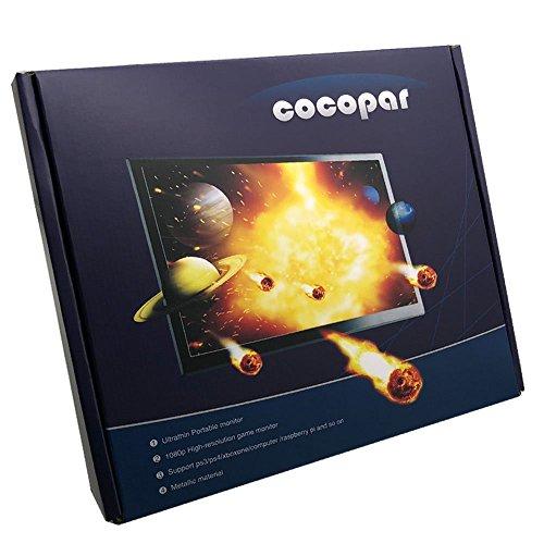 『cocopar®13.3インチIPS全視野モニター1920*1080 LED(16:9)HDMI PS3/PS4/xbox360/Raspberry Pi対応 ゲーム高解像度ビデオモニタディスプレイ1080P/1080iを支持 スピーカ内蔵HDMI/VGA/イヤホン アウトプット PCモニター (13.3インチ)【注文日から二年間保証】』の5枚目の画像