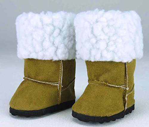 Brown Fur Boots for Dolls, Rea...