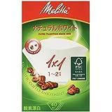 メリタ フィルターペーパー アロマジック ナチュラルホワイト【1~2杯用 40枚入】PA1X1