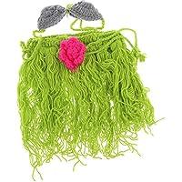 SONONIA 赤ちゃん  ユニセックス  ニット  かぎ針編み  ヘッドバンド  ブラ フラスカート  写真の小道具  手作り