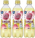 アサヒ飲料 カルピスソーダ 完熟白桃 500ml×3本