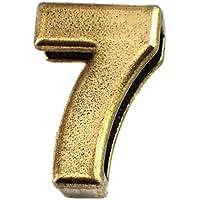 限定 レア ピンバッジ 数字「7」アンティーク真鍮色 ピンズ ブロンズ色 ピンバッチ
