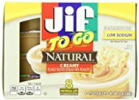 Jif to Go Natural Creamy Peanut Butter 8 Individual Cups (Pack of 2) [並行輸入品]