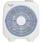 山善 25cmボックス扇風機 (押しボタンスイッチ)(風量3段階) ホワイトブルー YBS-B256(WA)