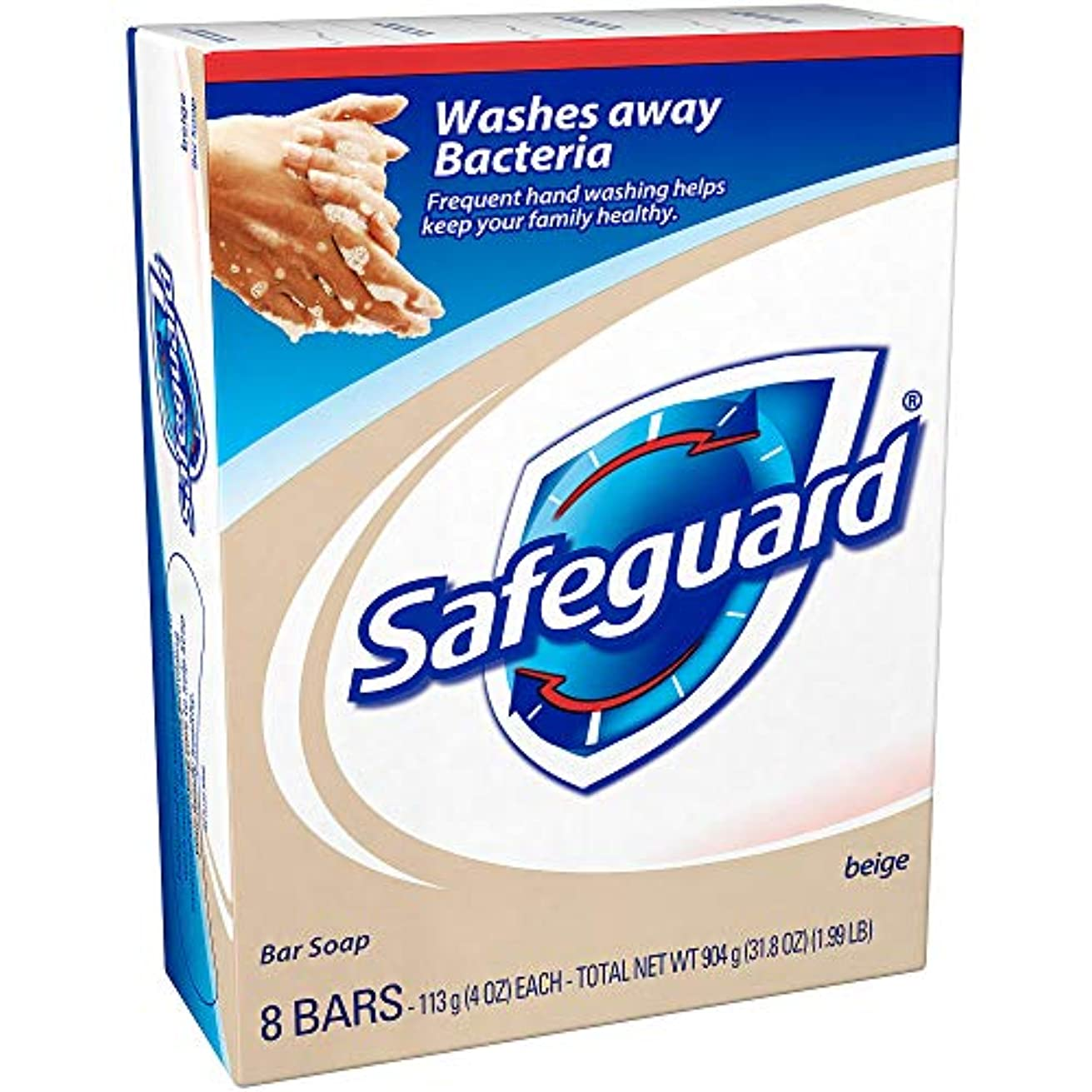 広範囲に鏡救援Safeguard 抗菌消臭石鹸、4つのオズバー、8 Eaは(4パック)