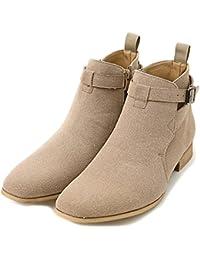 (ラブハンター) LOVE HUNTER メンズ サイドジップ ショートブーツ (シューズ 靴 くつ ヒール 革 ベルト)