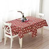 牧歌 テーブルランナー ホームデコレーション 北欧 明るい おしゃれ 長方形 エレガント モダン シンプル (Color : Red, Size : 33*150cm)