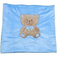 Big Oshi Teddy Super Soft Plush Baby Swaddling Blanket - Blue by Big Oshi [並行輸入品]