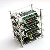 cocopar®ラズベリーパイ Raspberry Pi B+/2 Bに適用する1.2.4層スタック クリア アクリルケース (4層ケース)