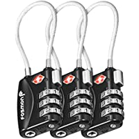 TSA Approved Luggage Locks, Fosmon (3 Pack) 3 Digit Combination Padlock Codes Alloy Body for Travel Bag, Suit Case, Lockers, Gym, Bike Locks or Other