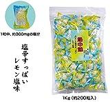 安全・サイン8 熱中飴 塩辛すっぱいレモン味 1kg(約200粒入り) CN3007-L
