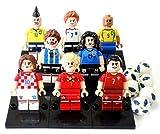 【ぴぴっと】 ミニフィギア スポーツシリーズ サッカー レゴ対応 互換 ミニフィグ フットボール 選手 8体セット