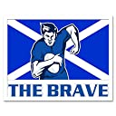 Painting Sport Scotland Rugby Football Flag Brave Art Print Framed Poster Wall Decor 12X16 Inch ペインティングスポーツスコットランドポスター壁デコ